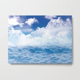 Wolken über dem Meer Metal Print