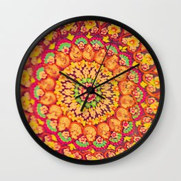 Mandala on copper plate 1 Wall Clock