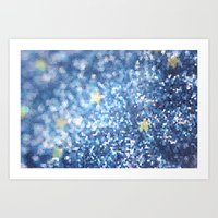 night sky Art Prints featuring Night Sky by Elizabeth