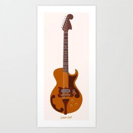 Merle Travis Bigsby Guitar Art Print