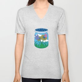 Little jar of happiness Unisex V-Neck
