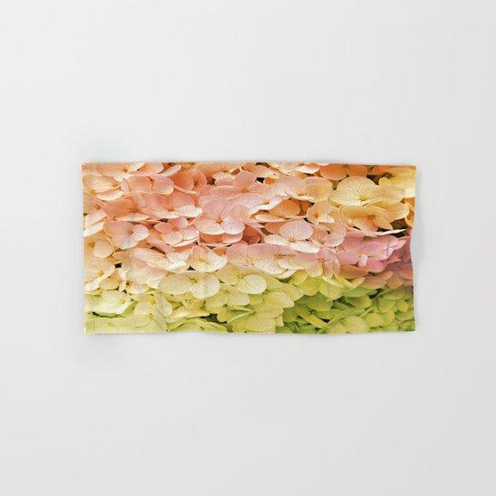 Delicate Pastel Multicolor Hydrangea Hand & Bath Towel