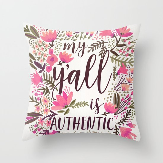 My Y'all is Authentic – Vintage Palette Throw Pillow