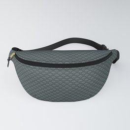 PPG Night Watch Pewter Green Small Scallop, Wave Pattern Fanny Pack
