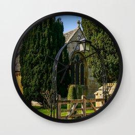 Church Arches Wall Clock