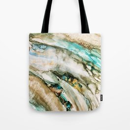 Teal Turquoise Geode Tote Bag