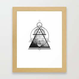Wicca Air Element Symbol Pagan and Witchcraft Triangle Framed Art Print