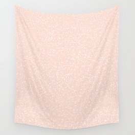 Peach Speckle Print Wall Tapestry