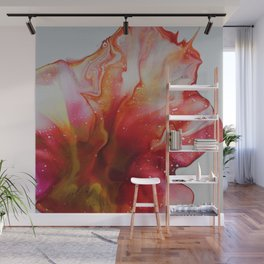Abstract Magenta Flower Wall Mural