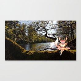 Lakeside Meditation Canvas Print