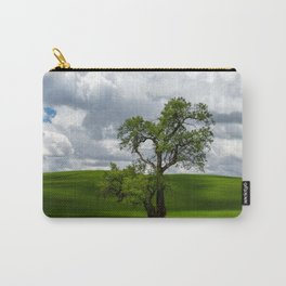 Single Tree in Green Field Carry-All Pouch