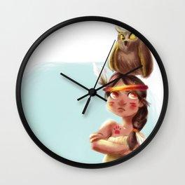 Litte Owl Girl Wall Clock