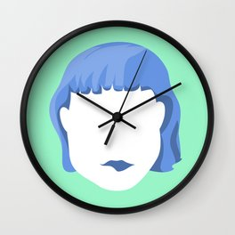 EMPTY FACES #1 Wall Clock