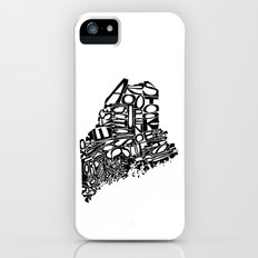 Typographic Maine iPhone (5, 5s) Slim Case
