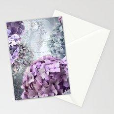Vintage Flower Hydrangea Hortensia Collage Stationery Cards