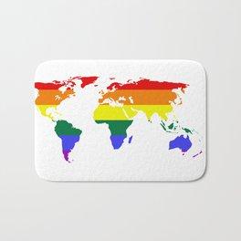 LGBT World (Gay Pride Flag) Bath Mat