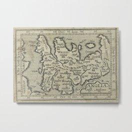 Vintage Map of England (1603) Metal Print