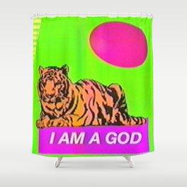 I Am A God  Shower Curtain