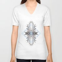 underwater V-neck T-shirts featuring Underwater by Barlena