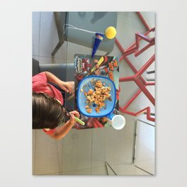 Breakfast Kid Canvas Print