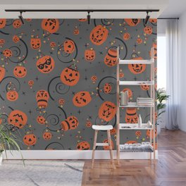 Halloween Magic- Grey Wall Mural