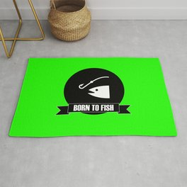 Born to fish fishing gift Rug