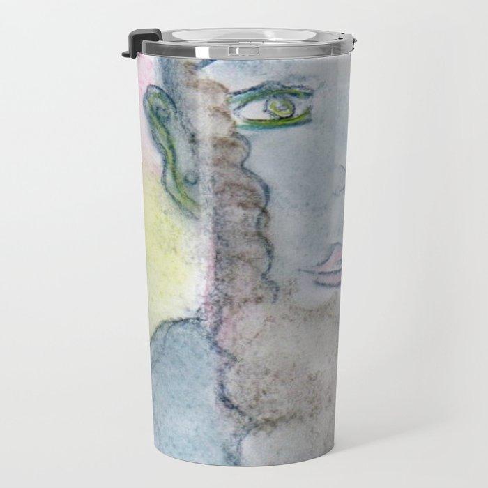 Spiritual Chalks Drawing of 16th USA President Abraham Lincoln Travel Mug