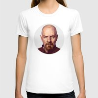 walter white T-shirts featuring WALTER WHITE by nachodraws