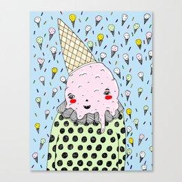Creamy Head Canvas Print