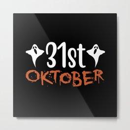 Halloween Ghost October 31 Costumes Idea Metal Print