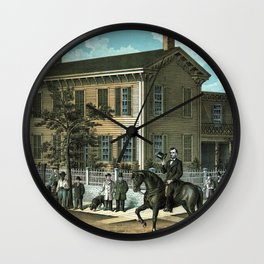 Abraham Lincoln's Return Home Wall Clock