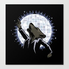 Howling at the Disco Moon Canvas Print