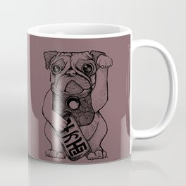 Lucky Pug [violet] Coffee Mug