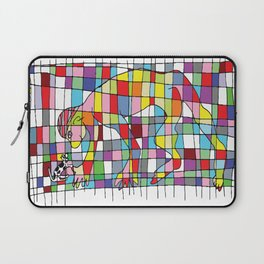 A man and a little dog in the net Laptop Sleeve