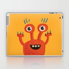 Funny Orange Happy Creature Laptop & iPad Skin