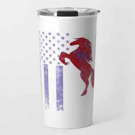 Horseriding Flag Travel Mug