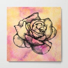 Black Rose III Metal Print