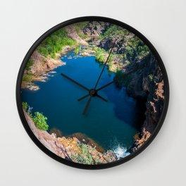 Panoramic view from above at Edith Falls, Australia. Wall Clock
