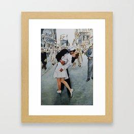 VJ Day Kiss Framed Art Print
