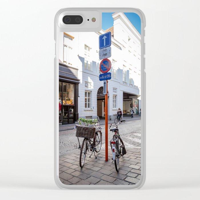 Bruges bike Clear iPhone Case
