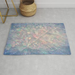 Sparkling Crystal Maze Abstract Rug