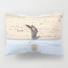 Seagull bird taking off Pillow Sham