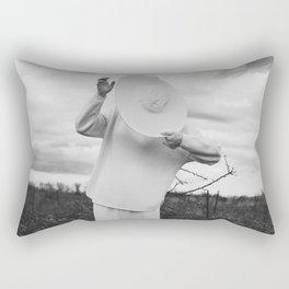 Hat in face Rectangular Pillow