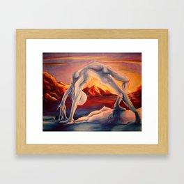 Balance Series - Twilight Icelands Framed Art Print