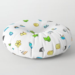 Spa and Beauty Pattern Fhrzl Floor Pillow