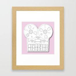 Tape Recorder  Framed Art Print