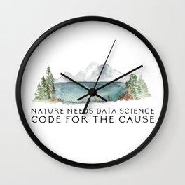 Nature needs data science Wall Clock