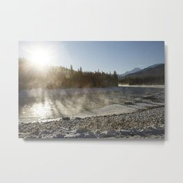 A river runs through winter Metal Print