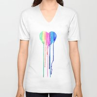 water colour V-neck T-shirts featuring Colour by sseo_story