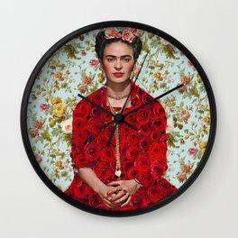 Frida Kahlo Portrait Wall Clock
